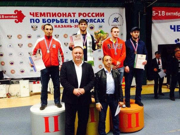 Бойцы Сборной КЧР по борьбе на поясах призеры Чемпионата России