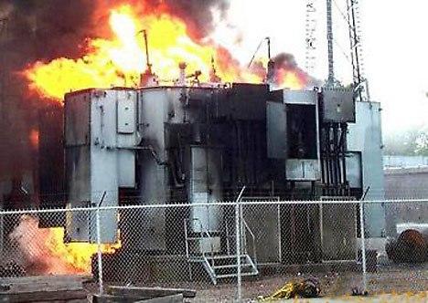 Особенности тушения пожаров на энергетических объектах и в помещениях с электроустановками