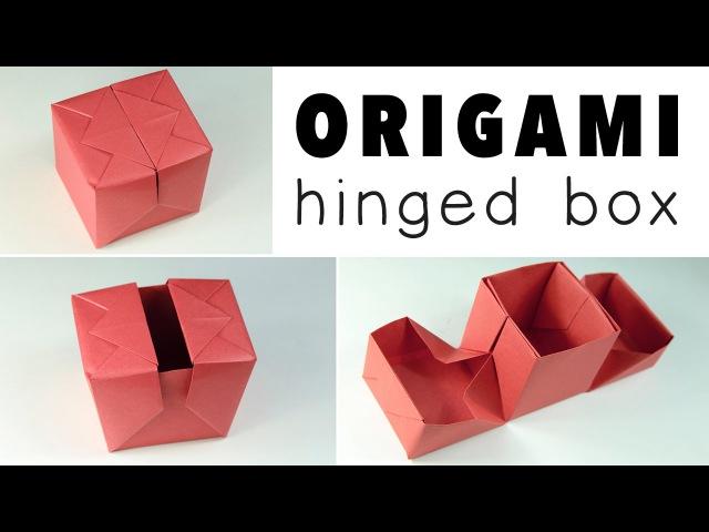 Origami Hinged Gift Box Tutorial ♥︎ DIY ♥︎