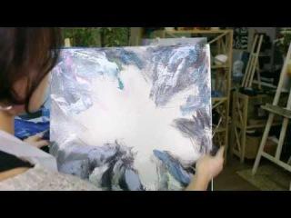 Картина за 7 минут! Цветок настроения / Painting in 7 minutes! Flower