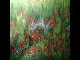 Easy field of poppies- Acrylic painting