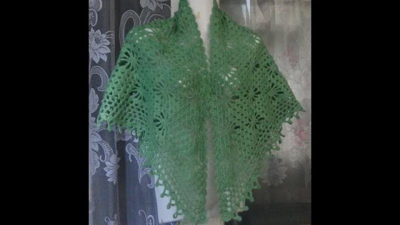 Как связать шаль с паучками крючкомHow to crochet shawl