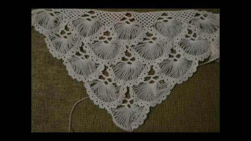 Турецкая шаль, связанная на карточке. Часть 25 (Turkish shawl, tied on the card. Part 2)