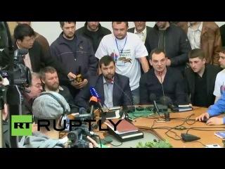 Пресс-конференция по итогам народного схода в Донецке и Луганске