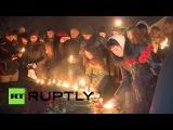 Жители Санкт-Петербурга зажгли свечи в память о жертвах крушения Boeing 737 в Ростове-на-Дону