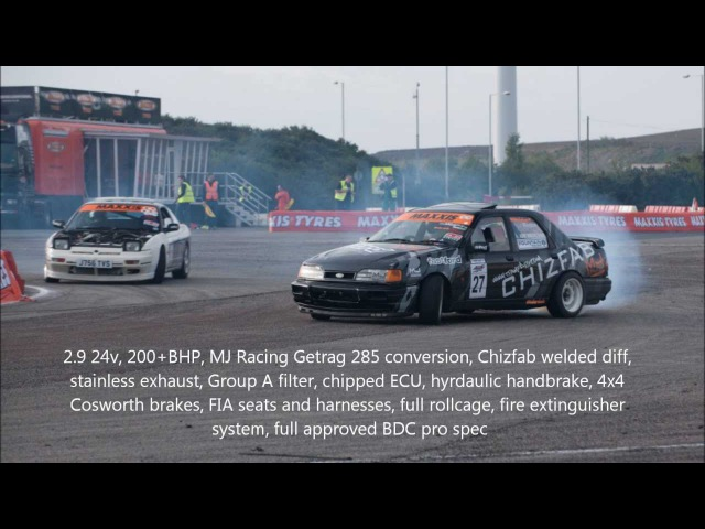 Ade Brannan BDC drift Ford Sierra Sapphire Cosworth compilation