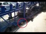 LiveLeak - Toddler survives pram crush by car transport