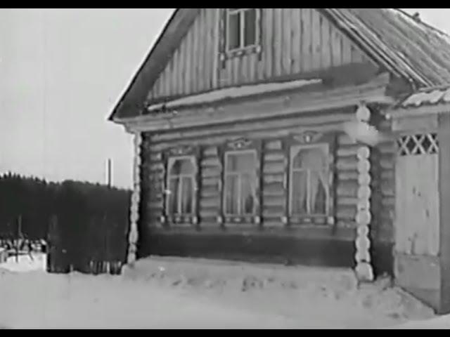 Добрая, задушевная русская песня Белым снегом Уральский русский народный хор, 1966 г.