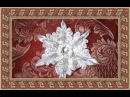 DIY Crafts Christmas decorations, Снежинка Канзаши, Christmas Snowflakes Kanzashi Tatiana Vasyliuk