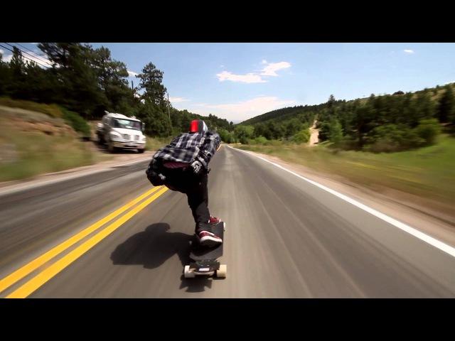 Longboarder soars down Colorado hill at 70mph!