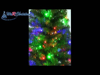 6 ft Slim Pre-Lit Christmas Tree with 200-LED Lights, Multi-Colour B00F89WPR4