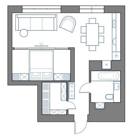 Концепт квартиры 48 м.