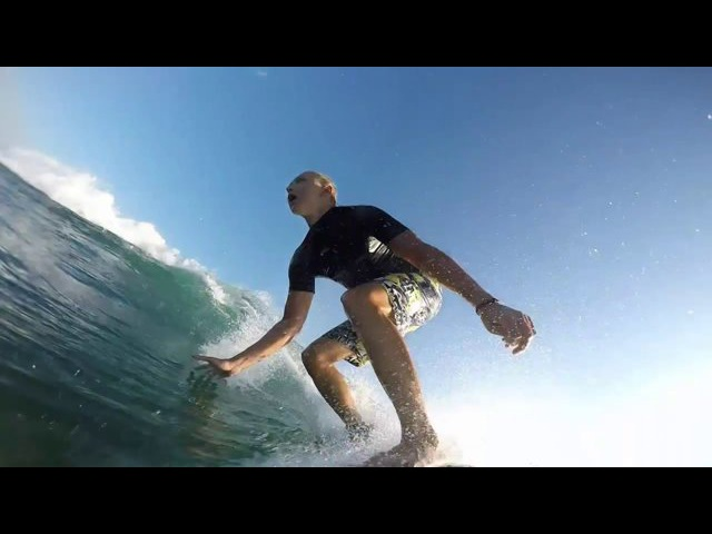 Surfing on Bali. May 2015
