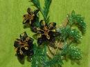 Дерево - Цветы из бисера мастер класс