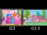 My Little Pony G3, G3.5, G4 Intro Comparison