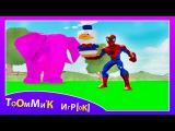 Человек Паук и ТАЧКИ машинки из мультика ДИСНЕЙ. Игра детям Spider Man & Disney Pixar Cars for kids