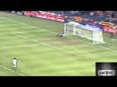 Beautiful goal Ronaldinho's long shot. Football Vine