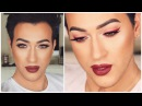 BOLD RED EYELINER MAKEUP TUTORIAL MannyMua MakeupGeek Palette