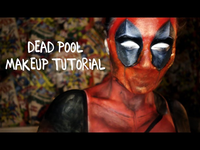 How to DEADPOOL makeup tutorial