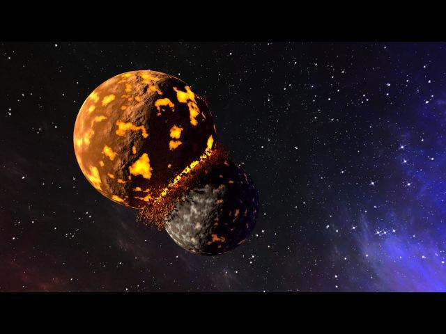 Анимация столкновения планет в Blender
