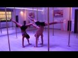 Marion Crampe and Alex Shchukin pole dance duo.