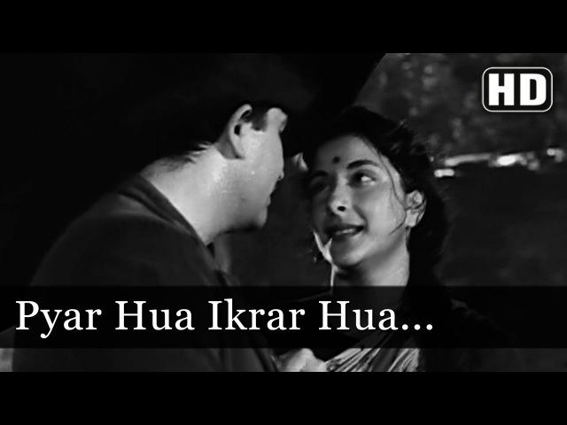 Pyar Hua Ikraar Hua | Raj Kapoor Nargis | Shree 420 | Bollywood Evergreen Songs | Manna Dey Lata