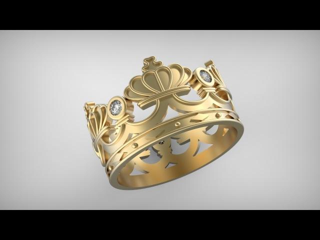 Кольцо Корона. Tutorial for Rhinoceros. Ring Crown