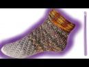 Wirbel Socken ohne Ferse häkeln lernen