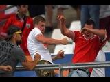 Российские болельщики атаковали сектор с фанатами сборной Англии после матча (Россия - Англия 1:1)