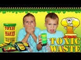 Toxic Waste Challenge - Even Baby Tries It!!!!