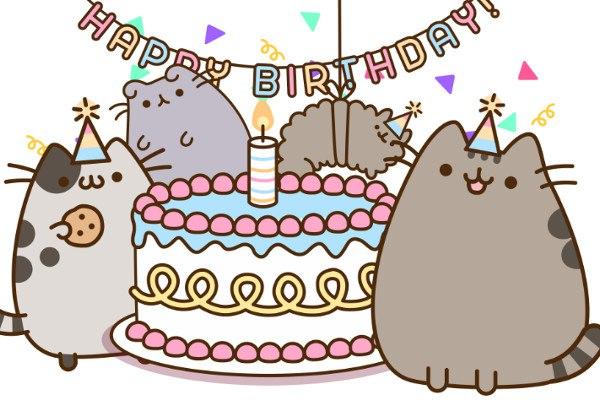 Няшные поздравления с днем рождения подруге 33