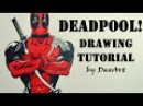 How to Draw Deadpool / Рисуем Дэдпула! / DA