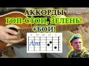 Аккорды Гоп стоп зелень разбор на гитаре видео урок
