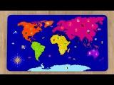 География для самых маленьких детей. Учим названия материков и их обитателей. Мультфильм для малышей