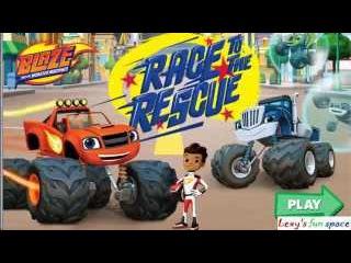 Вспыш и Чудо-Машинки Вспыш Спасает Друзей \Blaze & Monster Machines Blaze Rescue Race
