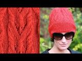 ❤ Как связать шапку-бини. Knitted hat. Bonnet tricoté. Вязание спицами от Lana Vi