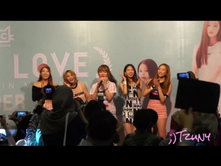 [FANCAM] 151011 CLC After Fans-sign Crystal Clear @ K.L Time Square