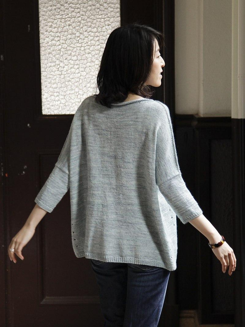 Вязание спицами свитер в стиле оверсайз