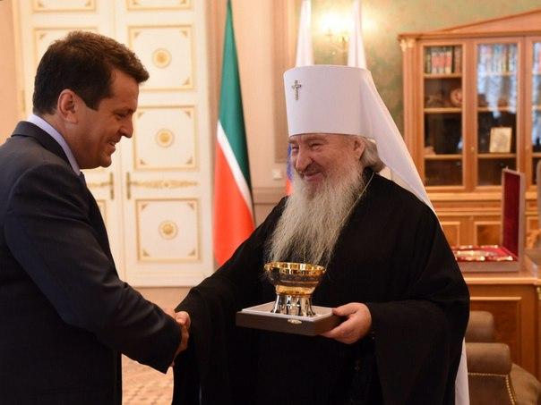 Ильсур Метшин и митрополит Феофан