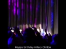 Demi Lovato, John Legend and Tony Bennett singing happy birthday to Hillary Clinton #2