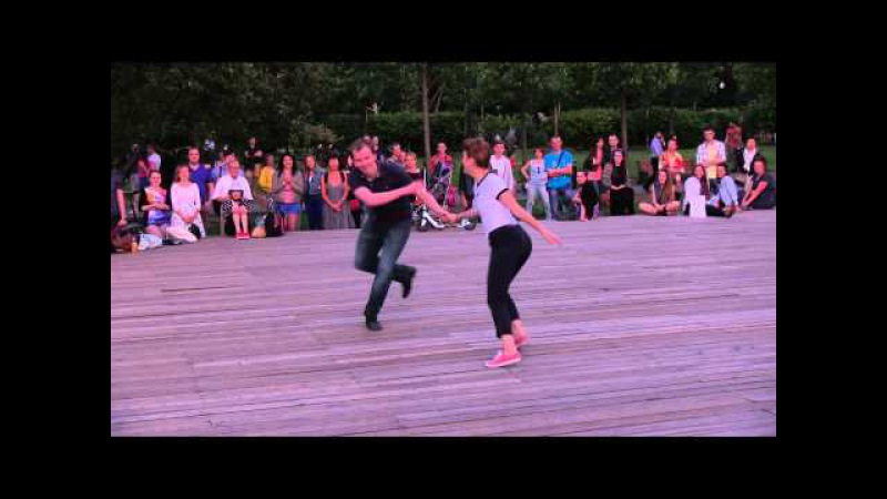 Sergey Bulatnov Daria Chupyrkina at Open Air Lindy Hop Contest