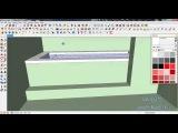 [SketchUp.ru] - V-Ray под SketchUp часть 7 из 14. Моделируем зону ванной