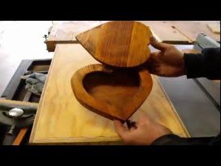 Самодельная шкатулка деревянная в форме сердца своими руками Столярные поделки из дерева сделай сам