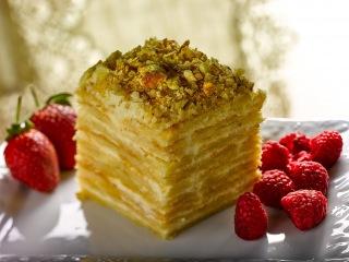 двойной торт Наполеон