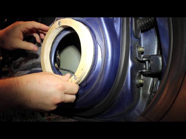 Часть 2 Замена динамиков Civic 4d проставочные кольца Part 2 Speakers replacement Civic FD