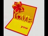 Love pop-up card. Great ideas for Valentine's day. Объемная  открытка на день женщины