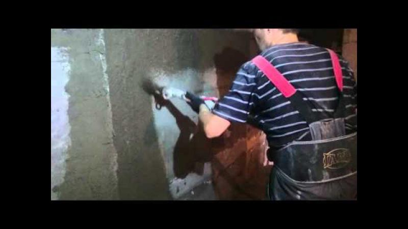 Нанесение цементной штукатурки станцией m-tec m330