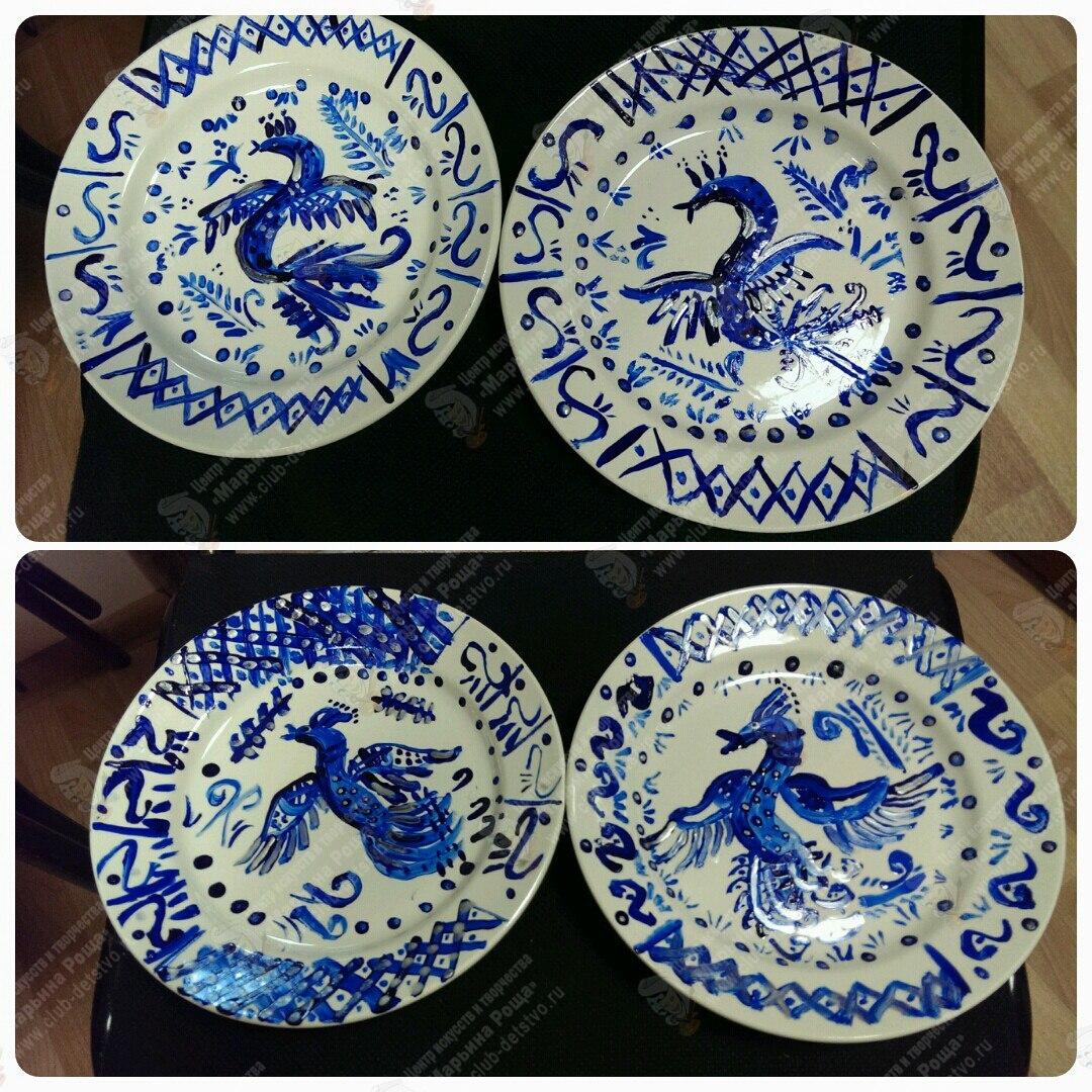 Мастер класс роспись тарелок 34
