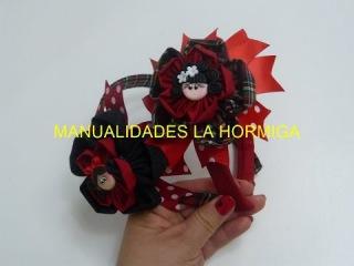Diademas con Moños diseño escolar paso a paso , headband for school