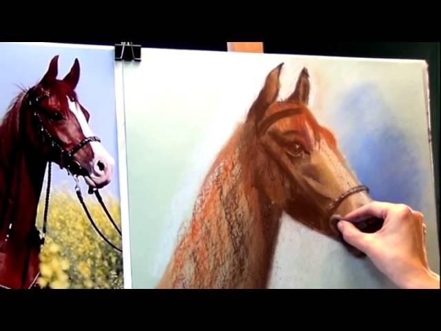 Рисуем лошадь пастелью